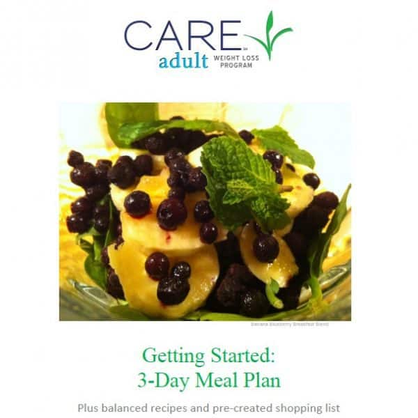 Meal plans and recipes for CARE Steps 1-5 consolidated for easy access when meal planning.