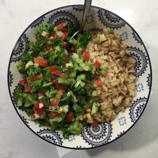 Tomato Tabouli_overhead_CARE Lifestyle Program